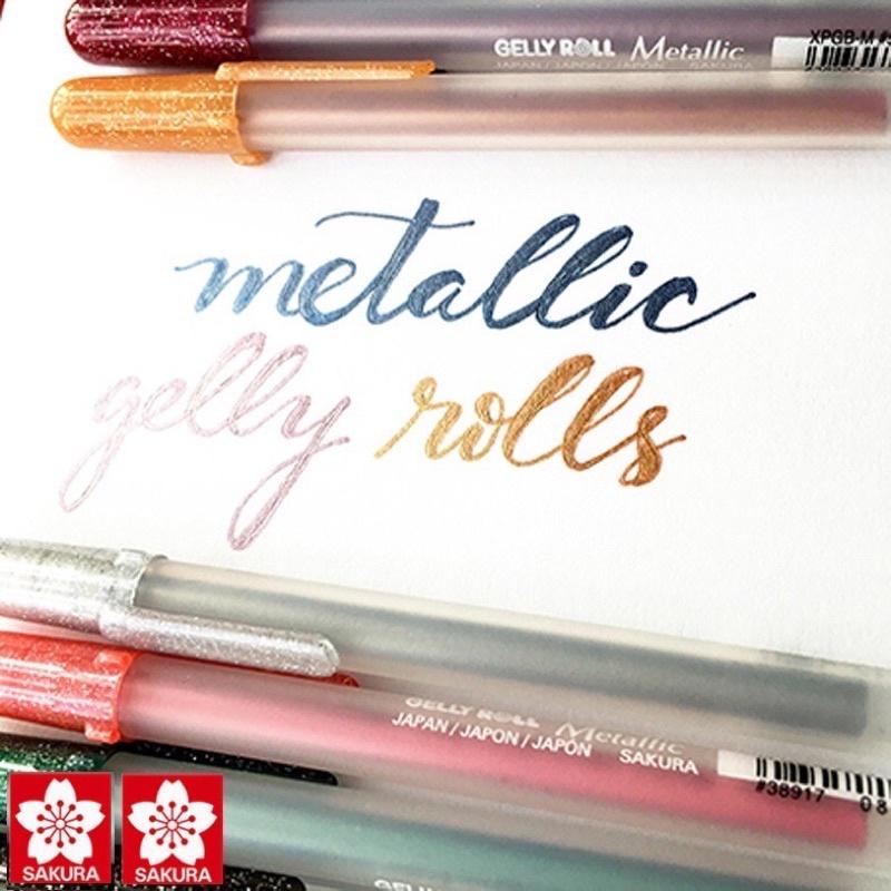 Bút Màu Ánh Kim Metallic Sakura, nét 0.4 mm