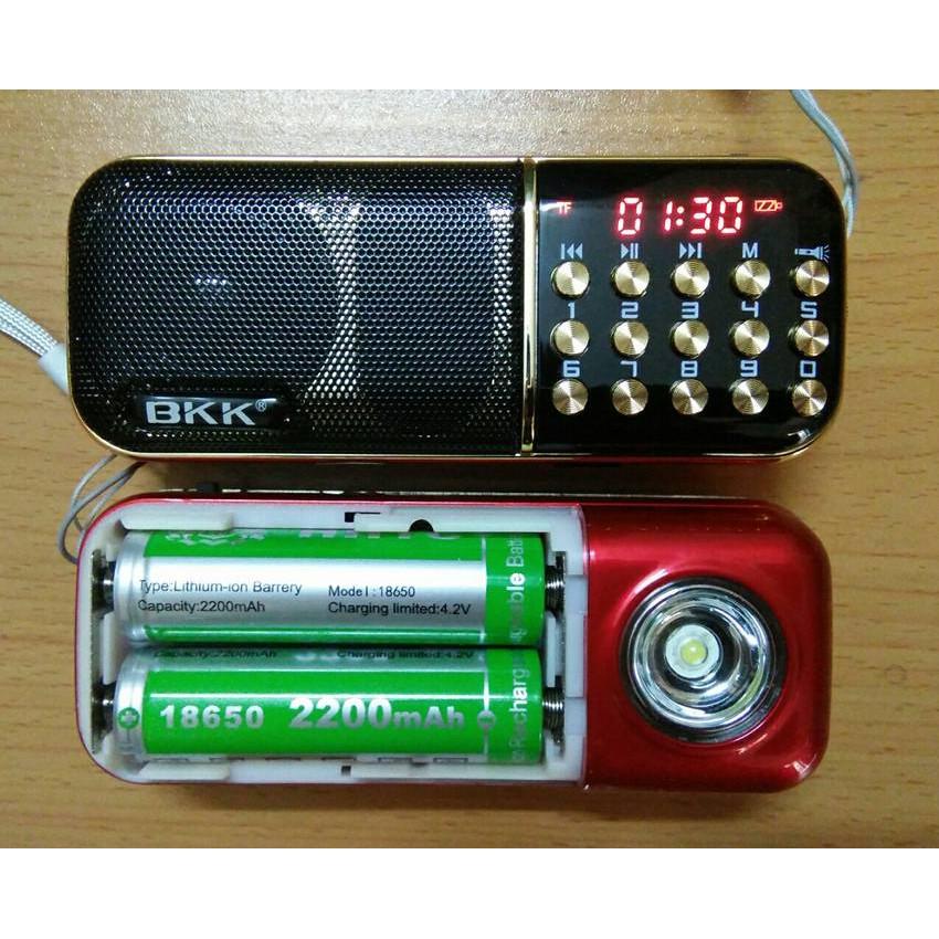 Loa đài nghe nhạc phật, FM BBK - K51 cực chất với 2 pin siêu khủng