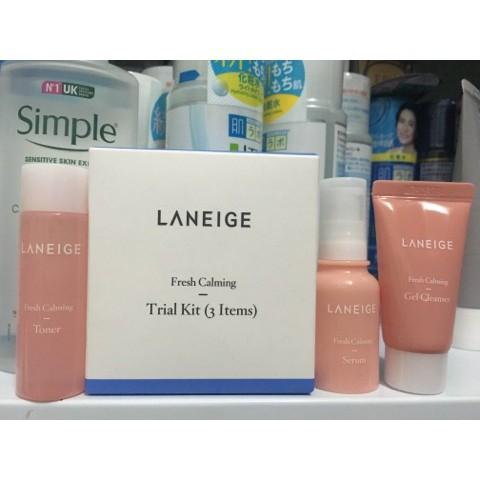 Tách set mini Kit dưỡng ẩm làm dịu và cân bằng da Laneige Fresh Calming Kit