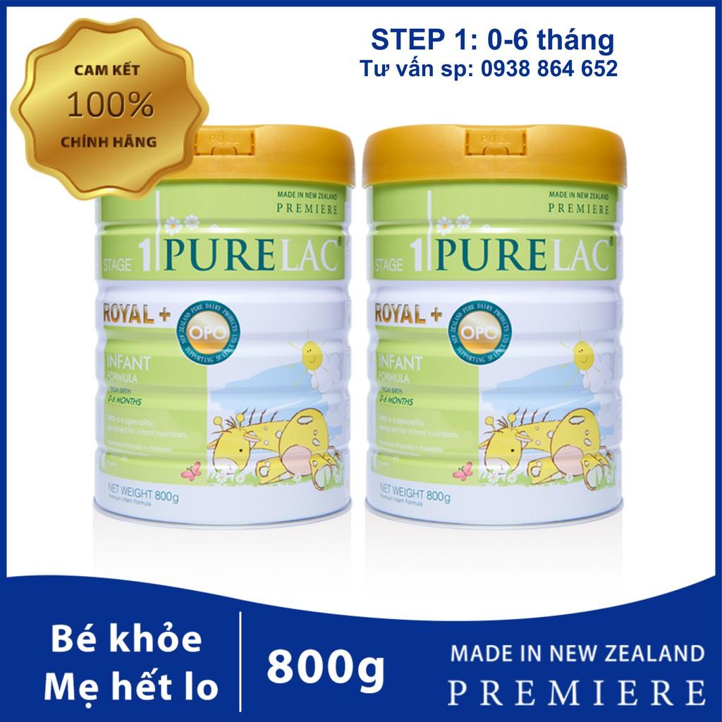 Combo sữa công thức Purelac 800gr cho bé từ 0 đến 6 tháng - Nhập khẩu nguyên hộp New Zealand