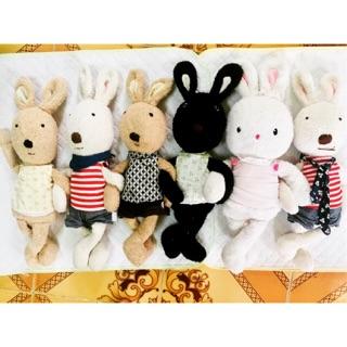 Thỏ quý tộc 6 con nhồi bông 45cm