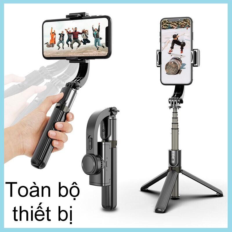 [ Hàng cao cấp ] Tay cầm chống rung điện tử có Bluetooth, Gimbal L08, Gậy chụp hình quay video chống rung cao cấp