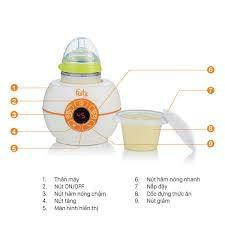 Máy FB3028SL hâm sữa thức ăn điện tử cổ rộng cho mọi loại bình