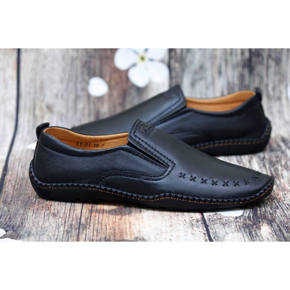 Giày lười da thật GLMM101 trẻ trung, sành điệu