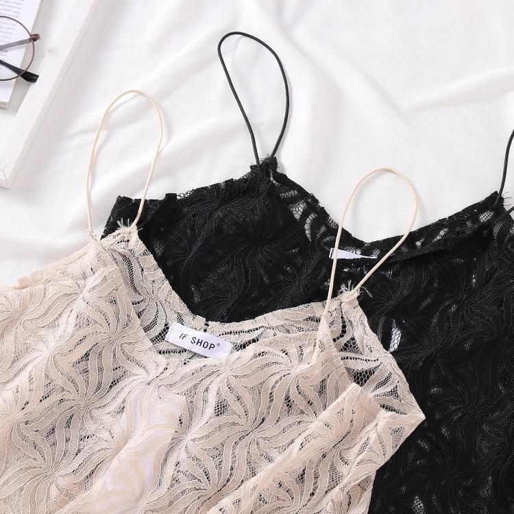 Spring pullover lace mesh vest strap female Slim Korean version of the tide fash