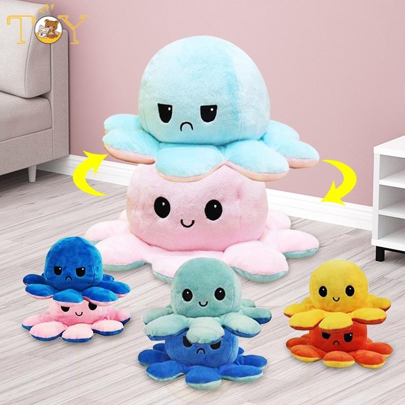 octopus bạch tuộc cảm xúc, Bạch Tuộc 2 Mặt Cute, Bạch Tuộc Nhồi Bông Thay Đổi Cảm Xúc Vui Nhộn Đáng Yêu
