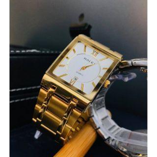 Đồng hồ nam halei mặt vuông dây kim loại chống nước