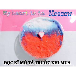[Snowfizz] Slime 2 màu + Charm Trái tim – My heart is in Moscow