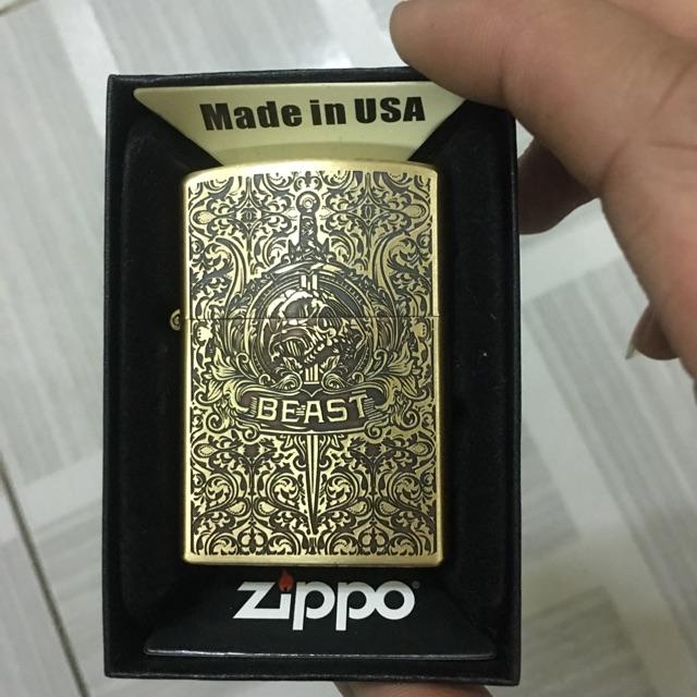 Zippo Ruột Vàng BEAST 5 Mặt,Main USA