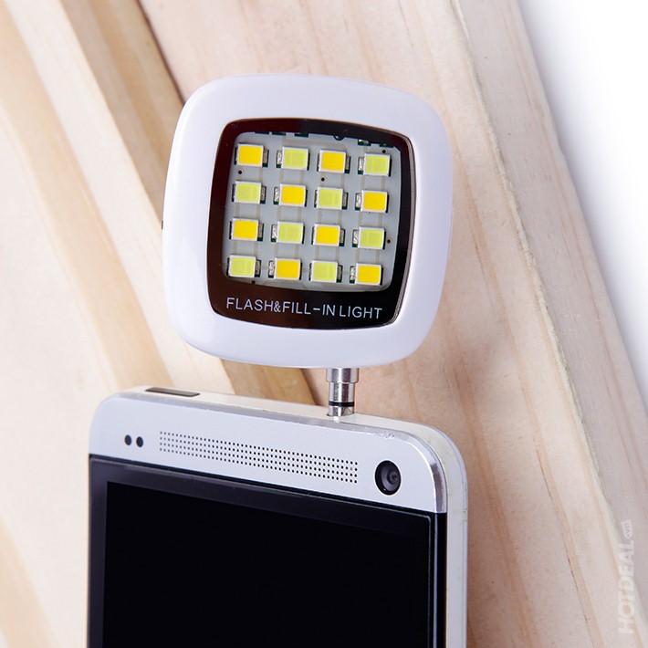 Đèn flash 16 bóng hỗ trợ chụp tự sướng