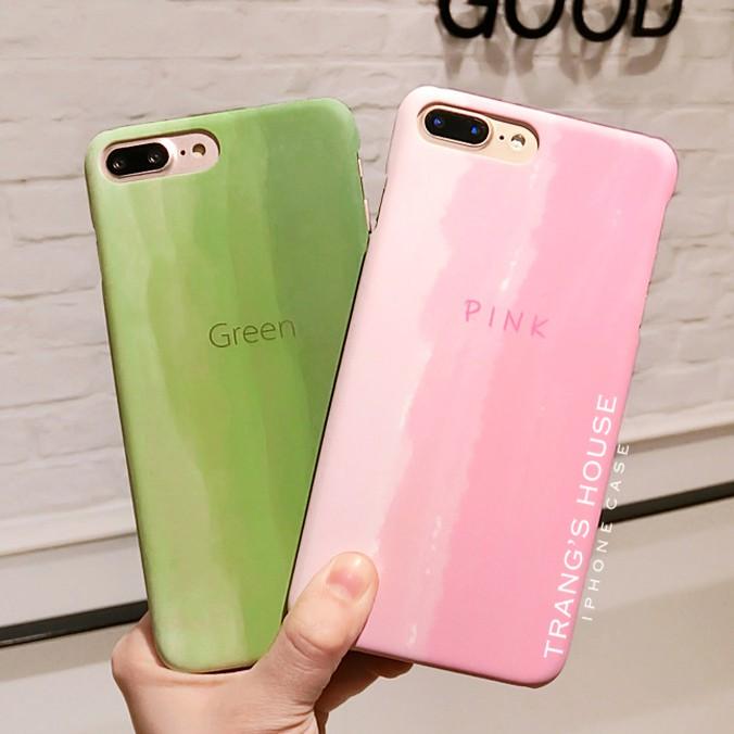 Ốp Lưng Iphone Gradient Green & Pink Color