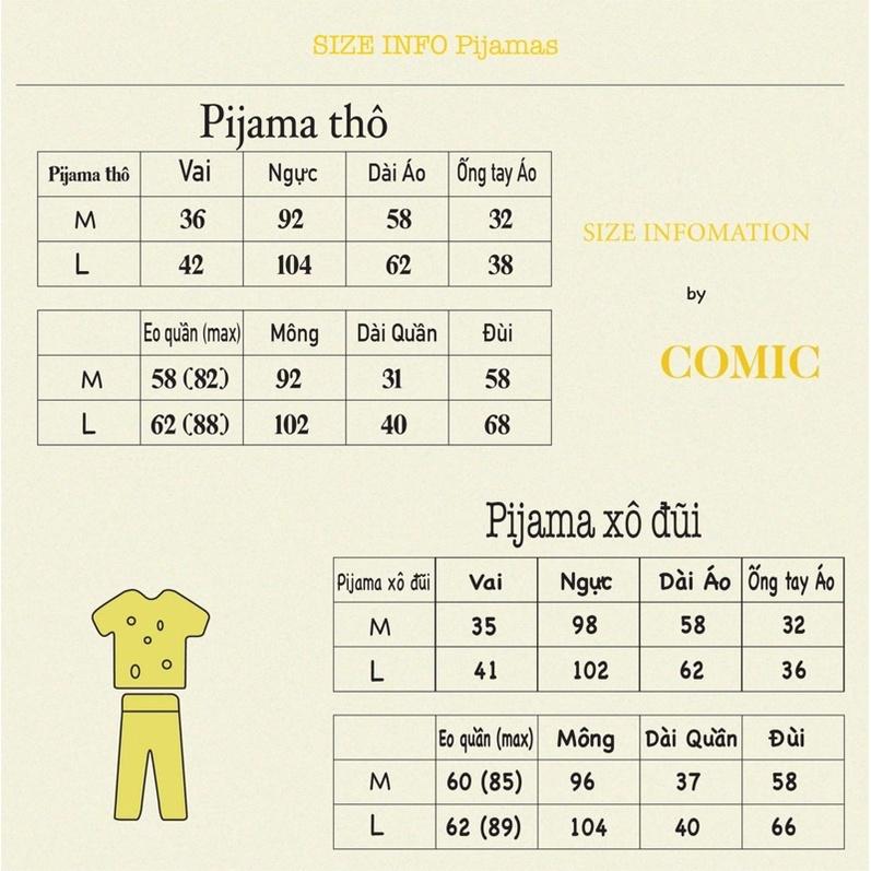 Mặc gì đẹp: Mát mẻ với  Pijama chất liệu xô tre comichouse
