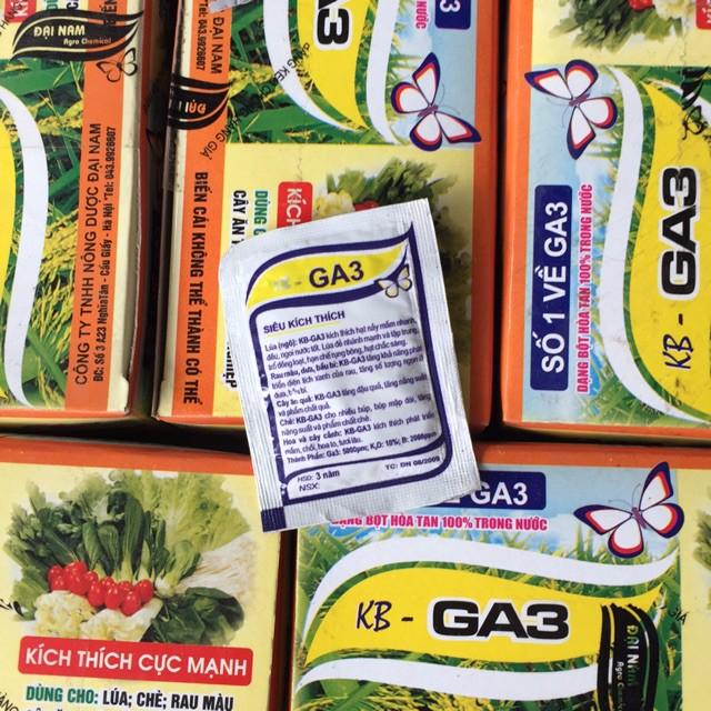 Phòng chống rụng hoa nụ/quả non, kích thích phát triển cây/hạt/trái - GA3
