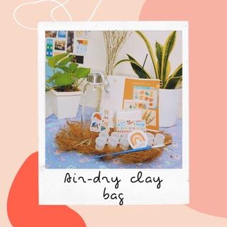 Bộ đất sét tự khô tặng kèm khăn Bandana ✨ Air dry clay set ✨ Chunky rings ✨ Khay đất sét ✨Bộ làm gốm