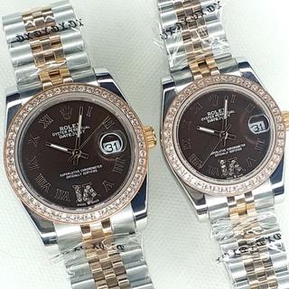 Đồng hồ ĐÔI NAM NỮ ROLEX kính sapphire chống nước thumbnail