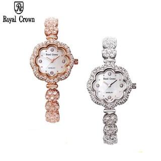 [Mã FARSBRT52 giảm 20% đơn từ 249K] Đồng hồ nữ chính hãng Royal Crown 3816 Dây Đá thumbnail