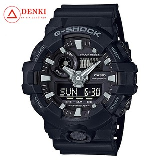[STANDARD] Đồng hồ Nam G-Shock Casio dây nhựa kim-điện tử GA-700-1BDR - Chính hãng Casio Anh Khuê thumbnail
