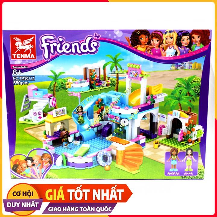 Bộ Xếp Hình Lego Friends Cầu Trượt NO.TM3011A/550 Chi Tiết. Lego Xếp Hình Đồ Chơi Thông Minh Cho Bé.