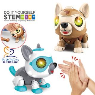 [HOT] Chú chó robot lắp ghép biết đi biết chơi đùa với bé