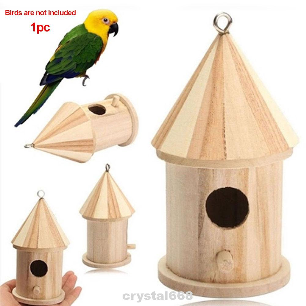Breeding Craft Decorative Durable Outdoor Hanging Wooden Bird House
