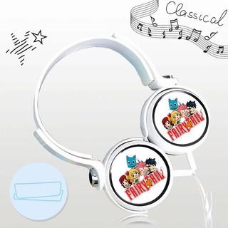 Tai nghe FAIRY TAIL thiết kế thông minh cá tính cắm dây có mic anime chibi