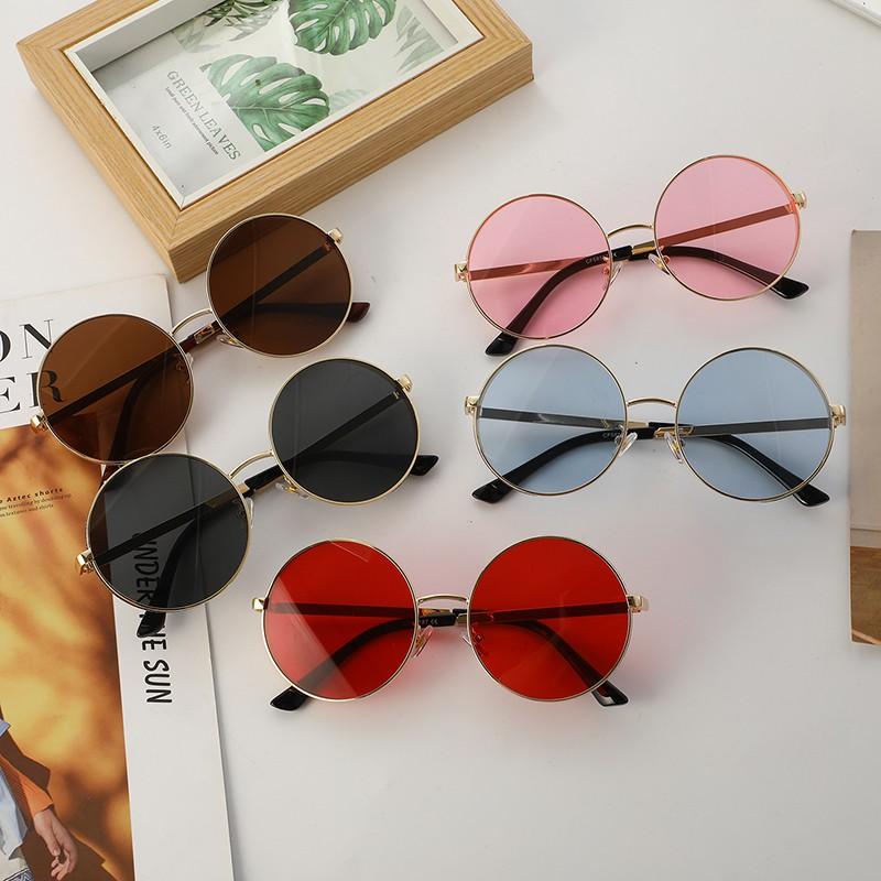 (Khuyến mãi bán buôn) Kính râm / kính râm tròn thời trang / chống tia UV400 cho nữ