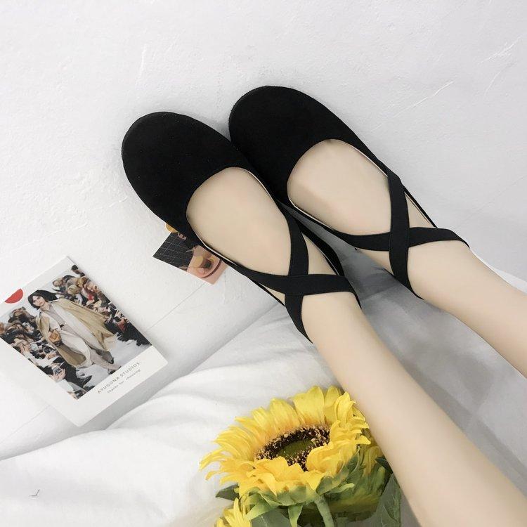 Giày Búp Bê Đế Bằng Mũi Tròn Thời Trang Dành Cho Nữ