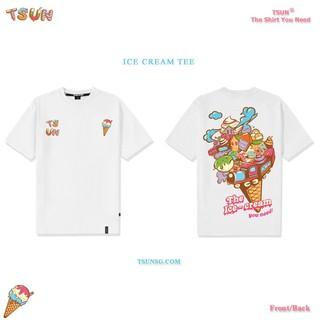 Hình ảnh Áo thun TSUN Ice Cream Tee - White - Áo thun Unisex-0