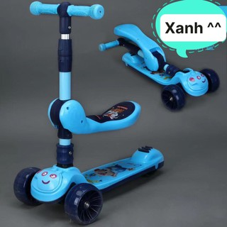XSH – Xe Scooter, cho bé có yên ngồi có đèn 3 bánh và nhạc (xe heo)