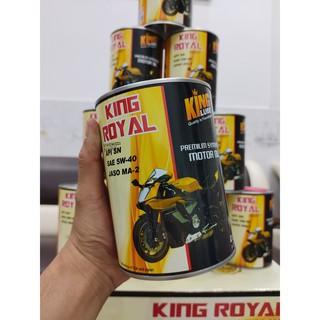 KINGLUBE - NHỚT KING ROYAL AT 5W40  0.8L NHỚT TỔNG HỢP CHO XE SỐ, MÔ TÔ PKL