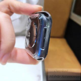 Vỏ silicone trong suốt cho màn hình đồng hồ Apple Watch 5 4 3 2 1 40mm 44mm 7