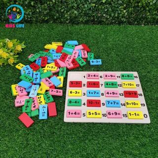 120 viên domino học phép tính cộng trừ