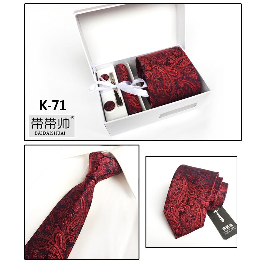 Bộ đồ nam sáu mảnh phù hợp với kinh doanh cà vạt đỏ K71 hộp quà cưới chú rể - 22510568 , 5800903967 , 322_5800903967 , 217500 , Bo-do-nam-sau-manh-phu-hop-voi-kinh-doanh-ca-vat-do-K71-hop-qua-cuoi-chu-re-322_5800903967 , shopee.vn , Bộ đồ nam sáu mảnh phù hợp với kinh doanh cà vạt đỏ K71 hộp quà cưới chú rể