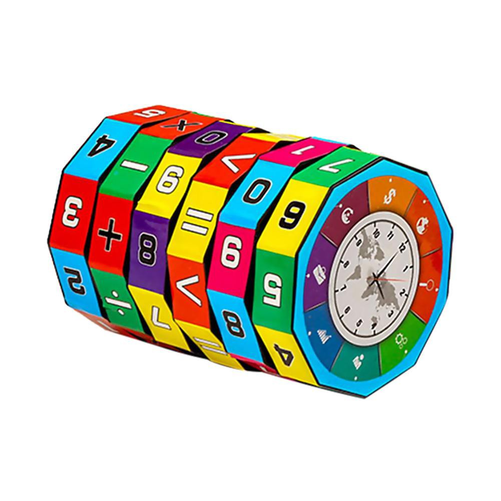 Plastic Cylindrical Digital Puzzle Magic Cube Toys Kids Educational Toy [KidsDreamMall]