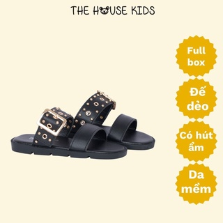 Dép lê cho bé gái – Dép trẻ em cao cấp quai đinh – The House Kids