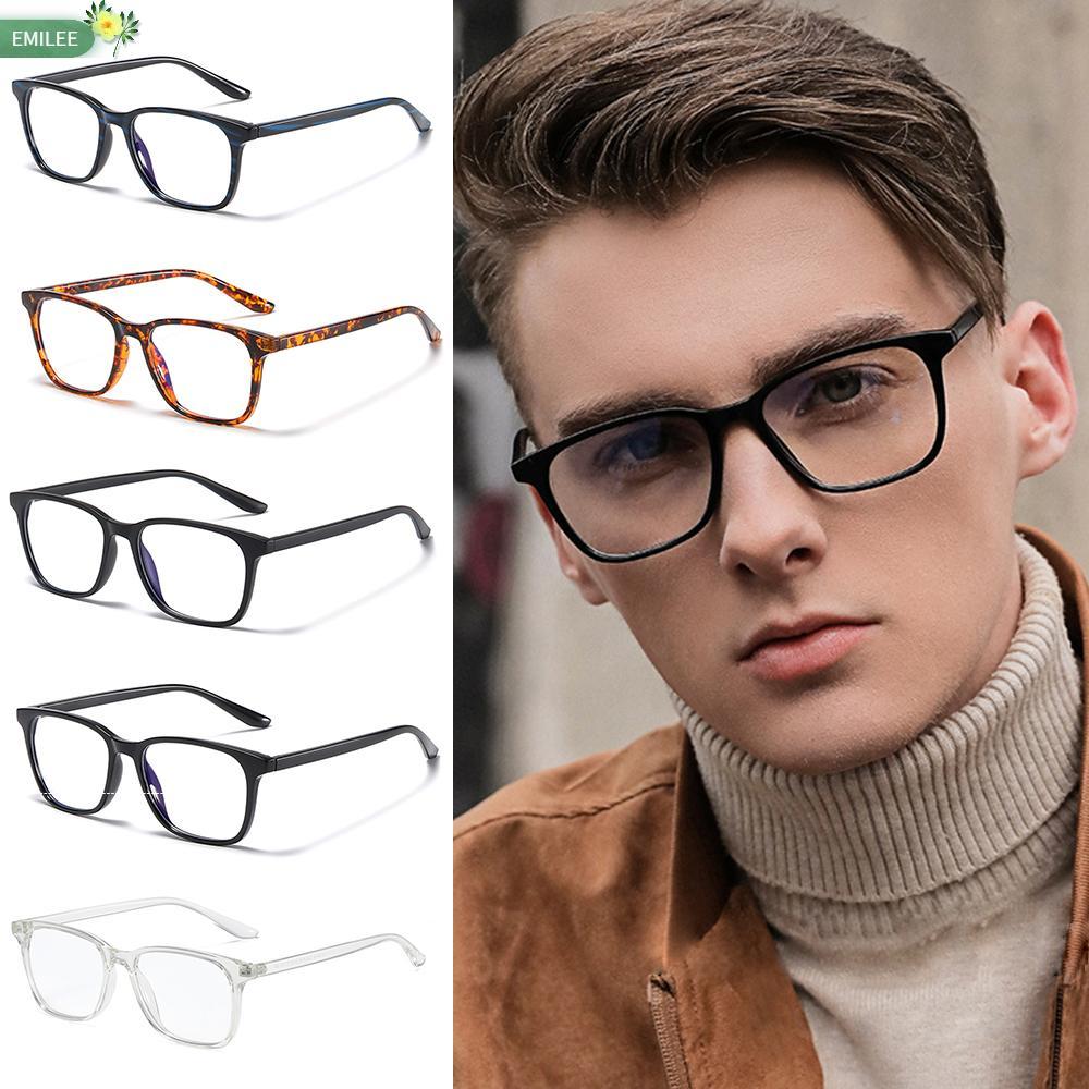 EMILEE💋 Retro Frame Computer Glasses Cut UV400 Unisex Glasses Blue Light Blocking Vision Care Lightweight with Spring Hinges Nerd Reading...