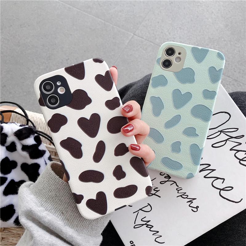 Ốp điện thoại silicon chống sốc họa tiết trái tim cho iPhone 12 11 Pro Max X XR 7 8 Plus Xs Max