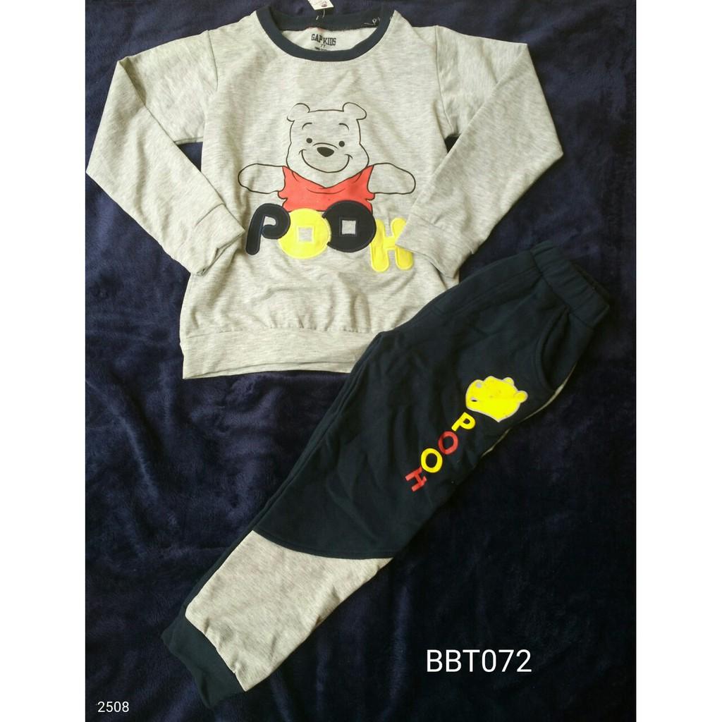 BBT072 Bộ nỉ gấu Pooh