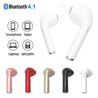 Tai nghe không dây mini i7s Tai nghe đơn Bluetooth Tai nghe thể thao Tai nghe miễn phí Tai nghe Bass có Mic cho điện thoại di động