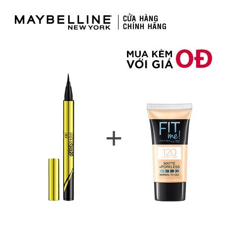 [COSMALL05 -8% ĐH250k]Bút kẻ mắt nước siêu sắc mảnh không lem không trôi Maybelline New York HyperSharp Liner Đen 0.5g