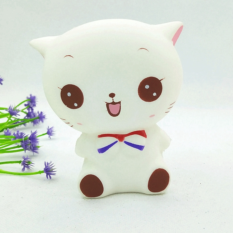 Simulated bow tie cat Jumbo Squishy Slow Rising Pendant