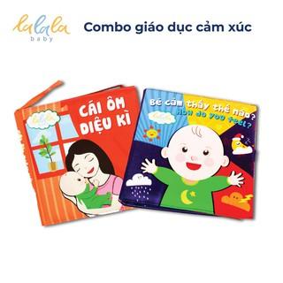 Bộ 2 sách vải Lalala Baby Giáo dục cảm xúc, Bé cảm thấy thế nào và Cái ôm diệu kỳ phát triển toàn diện thumbnail