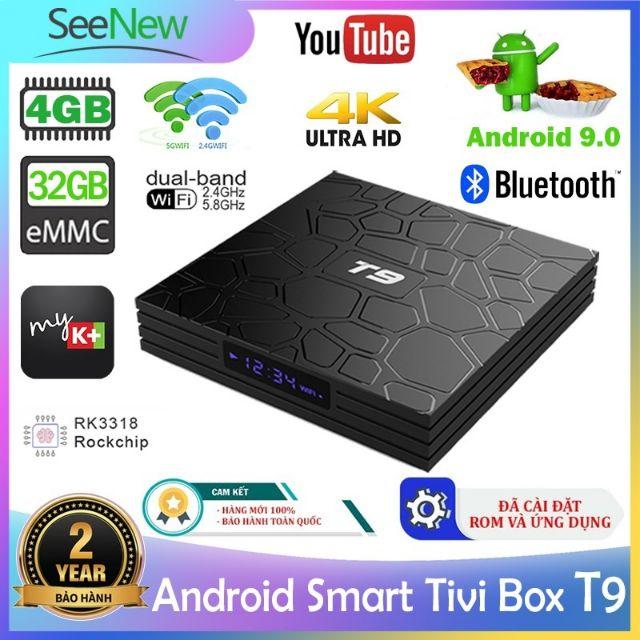 Android TV box T9 Ram 4G+32G xem truyền hình miễ