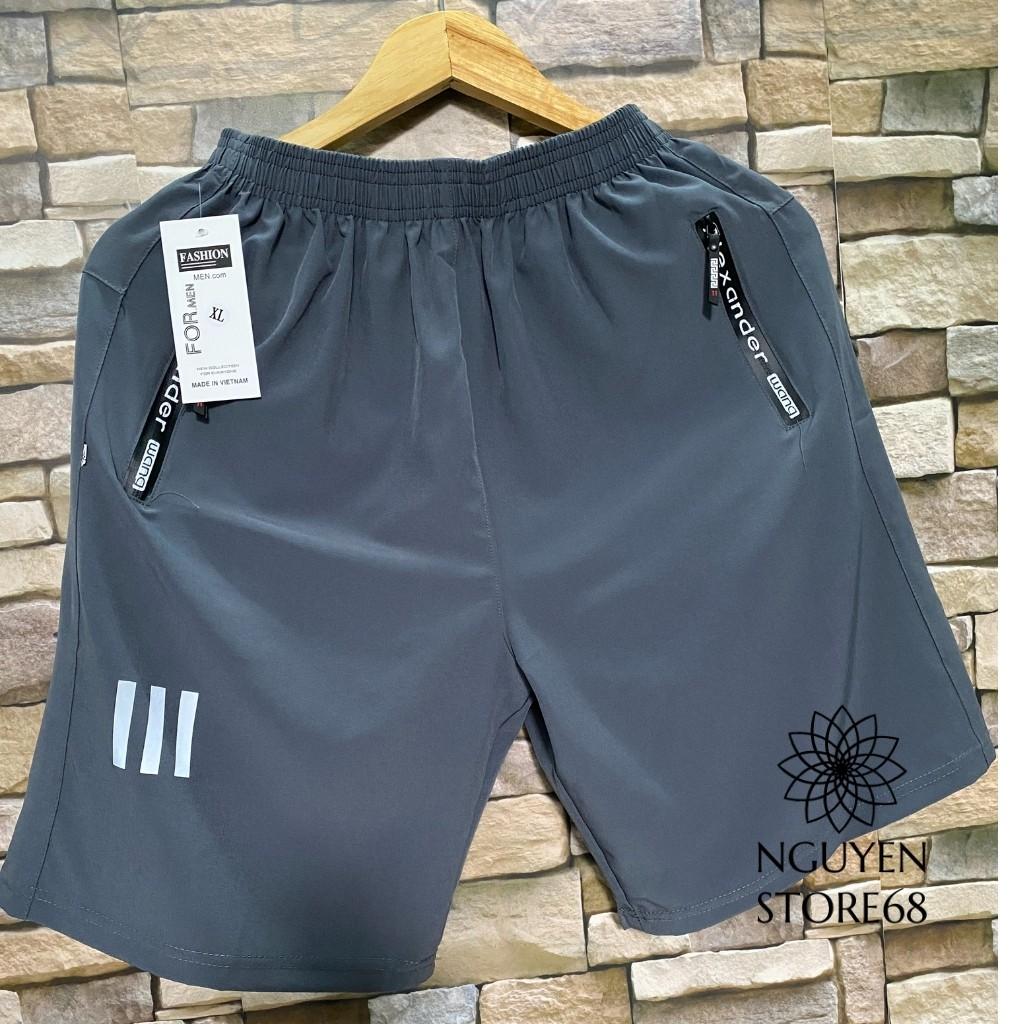 Quần Đùi Nam (5 màu) Vải Gió Mềm,short nam Siêu mềm mịn, Dáng Thể Thao thoáng mát túi kéo khóa chống nước