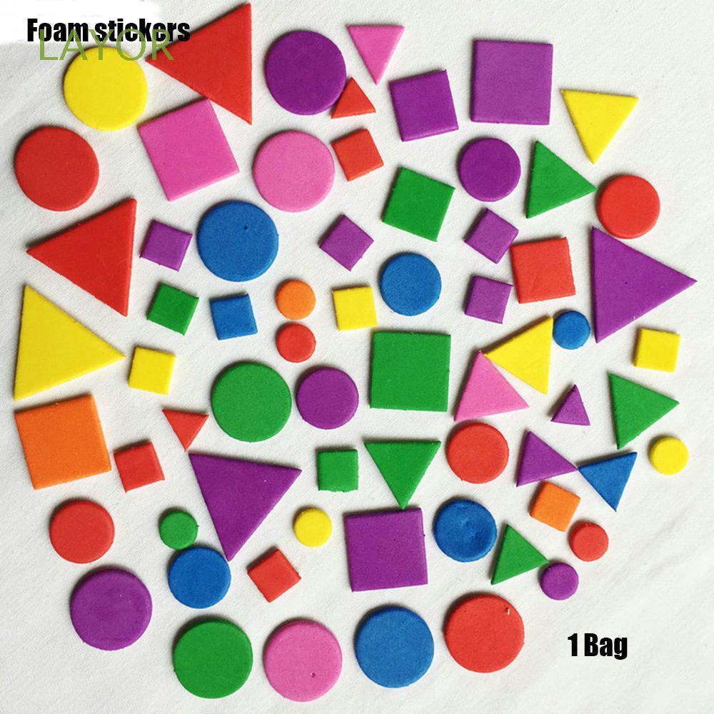 Túi miếng xốp dán nhiều kiểu hình độc đáo cho trẻ