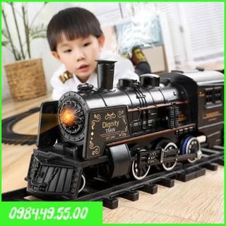 Đồ chơi mô hình xe lửa kích thước lớn phun hơi nước