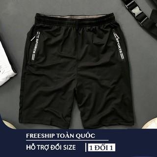 Quần Thun lạnh thể thao 2 túi khóa kéo vải dày, mềm mịn co dãn 4 chiều có size Bự- QSTT012