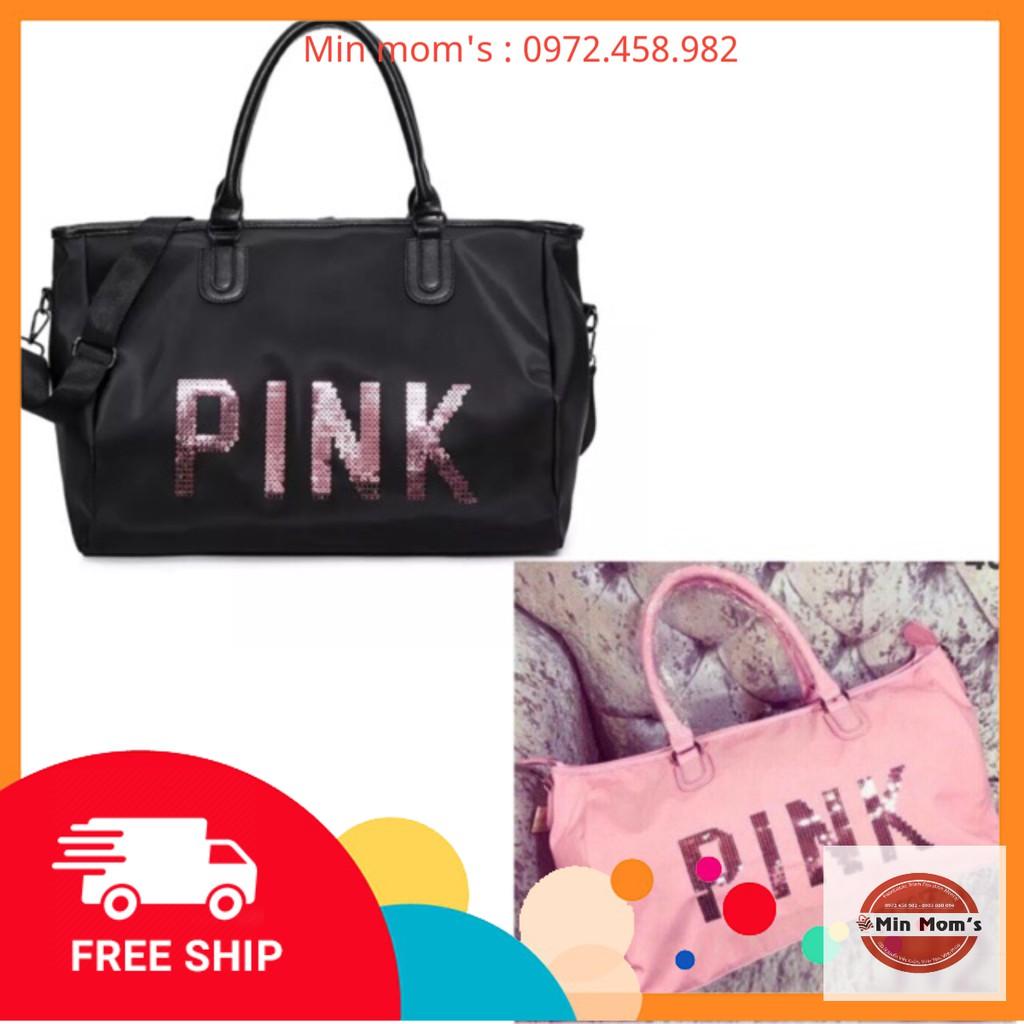 Túi pink du lịch size đại