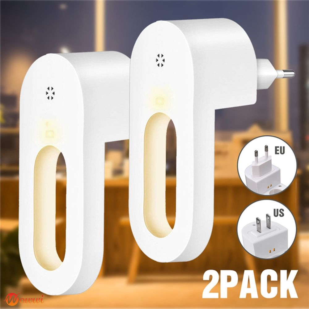 ❥ 0.7W Plug in Wall LED Night Light Lamp Auto Dusk to Dawn Sensor for Kids Bedroom Gdth