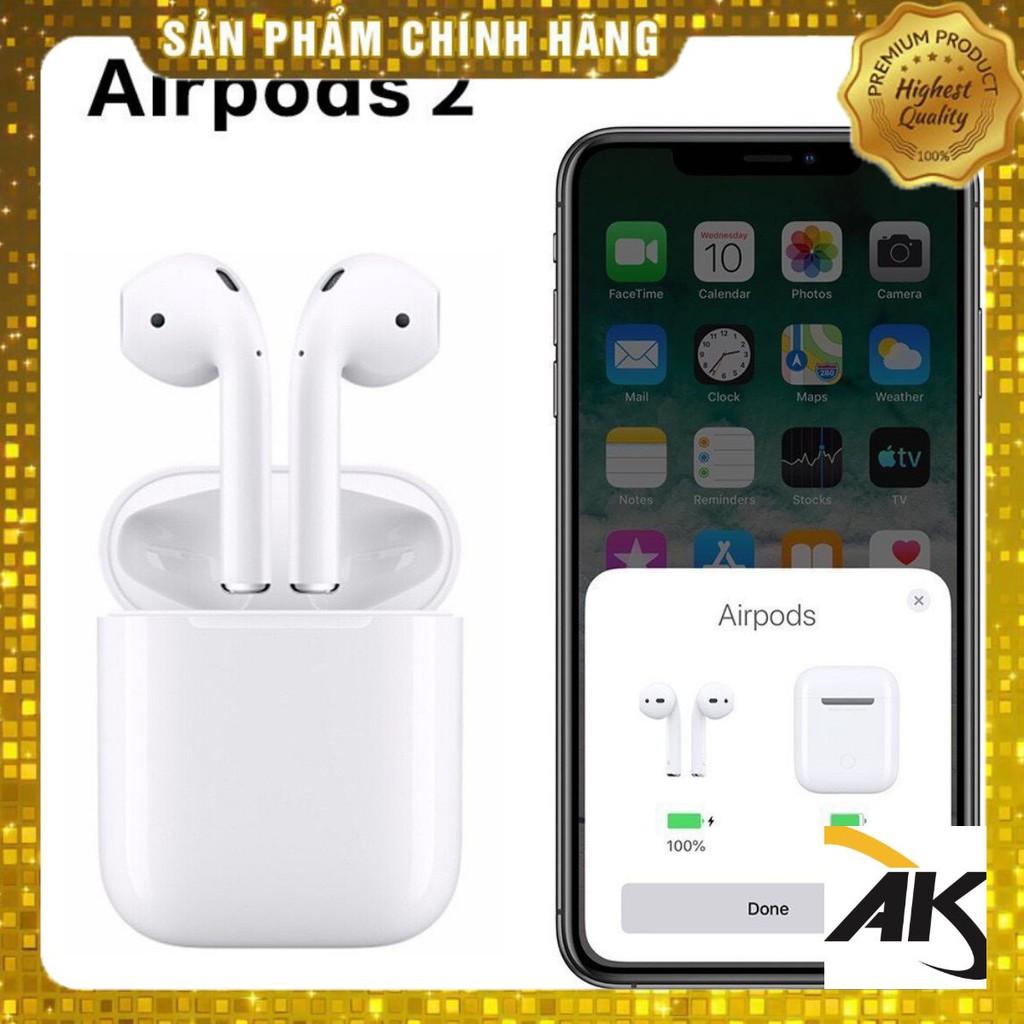 Tai nghe Bluetooth AIRPODS 2 (ĐỔI TÊN - ĐỊNH VỊ) chống ồn, cảm biến, full chức năng
